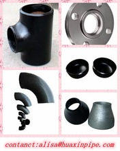 carbon steel pipe fittings butt weld ASTM A234 WPB huaxin
