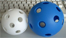 chinese factory hollow plastic balls/wiffle ball/best practice golf
