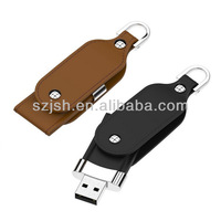 Promotional leather usb flash driver