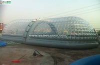 Outdoor big transparent inflatable bubble tent made of 1st pvc or TPU from China manufacturer