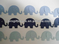 Hot new best selling product quality craft Blue Elephant Die Cuts Double Sided Scrapbook Embellishments made in China