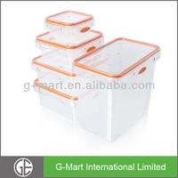 Airtight & Leak-Proof Plastic Food Storage Containers Set of 5, BPA Free