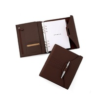High quality leather monthly planner / leather organiser planner