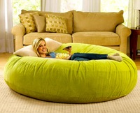 Suede Cover Fabric Foam Filling Round Beanbag Lazy Lounger Bean Bag Chair