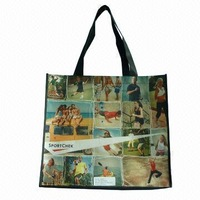 Beautifull PP woven printed bag, non woven, r-pet shopping bag