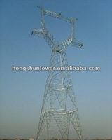 Steel lattice/tubular/angular three/four legged transmission tower
