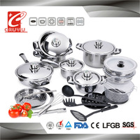 27pcs stainless steel capsule bottom cookware with bakelite handles knobs