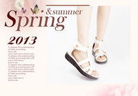 Fashion wedge heel lady casual sandal shoes