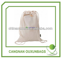 Eco-friendly Cotton muslin drawstring bag wholesale