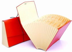 Hot sale portable plastic file case with handle
