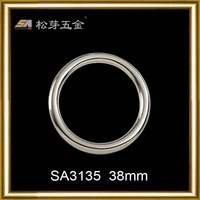 2014 hot sale zinc alloy silver O metal ring bag buckles