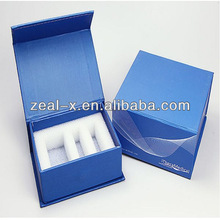 Good quality blue paper book shape cardboard box With CD Storage