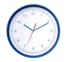 12 inch Simple Plastic Round Clock