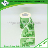 Virgin wood pulp 2ply high quality low price flower printing toilet paper