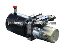 power pack, hydraulic power unit for car scissor lift, dump truck with AC,DC motor ,12V, 24V,