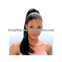 real virgin double drawn remy human hair clip on ponytail