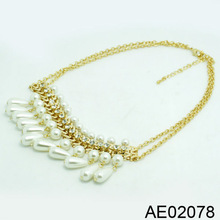 pearl fashion necklace,beaded necklace, fashion accessories jewelry AE02078