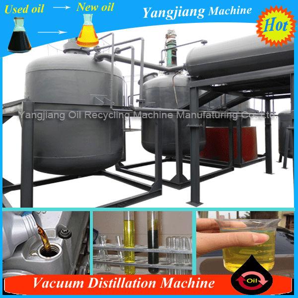 Waste Engine Oil Purifier Vacuum Distillation Machine For
