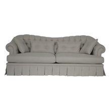 french style upholster fabric sofa back buttons chesterfield