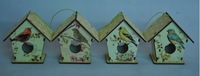 small wooden bird house with different design image
