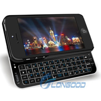 Sliding Bluetooth Wireless Keyboard Case cover for iPhone 5 5G