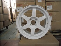 Japan design White Volk Rays TE37 alloy wheel