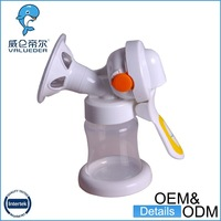 2014 New style Soft vacuum PP+Silicone milk breast pump