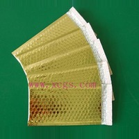 shinny finished metallic bubble mailer padding mailing bags