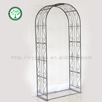 Hot sales Metal garden wrought iron rose arch use in home outdoor