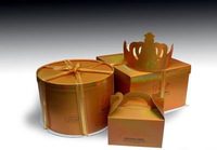 Custom design glossy paper cupcake boxes/Different type luxury cupcake packaging boxes