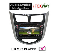 7 Inch 2 Din In-dash Touch Screen DVD Player for Hyundai Solaris Car Audio GPS