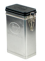 new fashion rectangular shape silver color tin can with hinged lid tea tin box