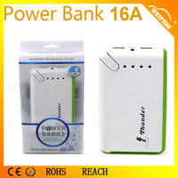 Promotional Power Bank Brand Portable Battery Charger Power Bank For Cell Phone/ Tablets/GPS 16A