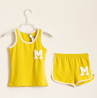M40144A 2014 new fashion sport summer leisure vest children kids baba suit
