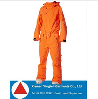 2014 Winter ski jumpsuits womens one piece snowsuits in orange