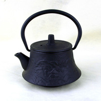 Enamel cast iron tea kettle with special shape