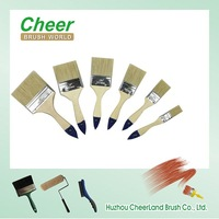 paint brush set with unpainted wooden/ high quality paint brush manufacturers china