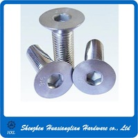 Flat head socket screw size m6