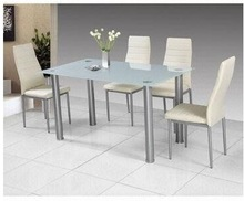 malaysia Simple Dining Set with One Table and Four Chairs
