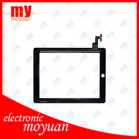 Best price! for ipad 2 touch screen 16gb/32gb/64gb digitizer glass, touch screen for ipad 2, for ipad 2 digitizer black