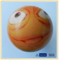 New Custom Cheap Bulk Heat/ Thermal Transfer PU Funny/ Smiley Face Stress Ball