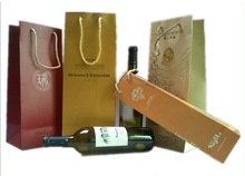 dongguan supplier customized wine paper packaging bags alcohol paper shopping bags wholesale