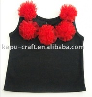 Fancy girls cotton tops child wholesale clothing in stock