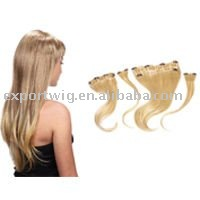 noble high temprature synthetic clip-in-hair extension