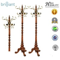 Y-89 slap-up coat rack/ European metal clothes tree, /Korean ground solid wooden coat racks