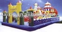 2014 happy amusing snow castle inflatable fun city
