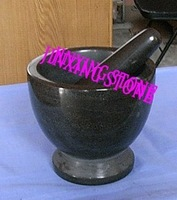 Black Marble Stone Polished Mortar & Pestle Set/Stone Kitchenware/Crusher Cookware