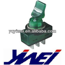 TOGGLE SWITCHES WITH LAMP 12V GREEN BODY CAR TOGGLE SWITCH