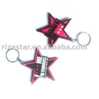 PVC key chain keyrings