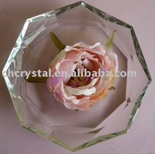 round large crystal ashtrays for promotional gift
